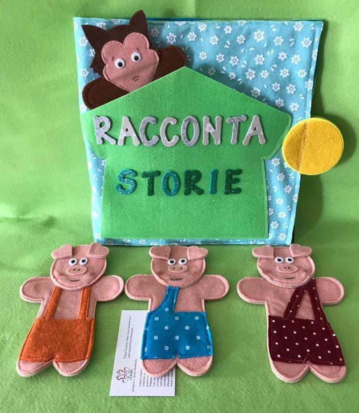 Racconta Storie : I Tre Porcellini Questo pannello Racconta storie in pannolenci e feltro è utile per la scoperta e la sperimentazione della narrazione, del linguaggio e dell'espressività nel bambino. E' una proposta gioco per bambini da 36 mesi in sù