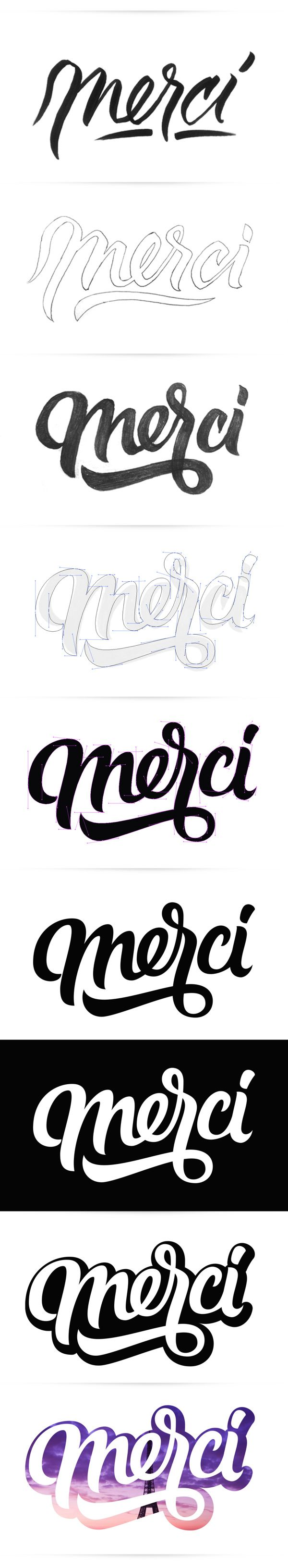Merci by Oscar Montoya, via Behance