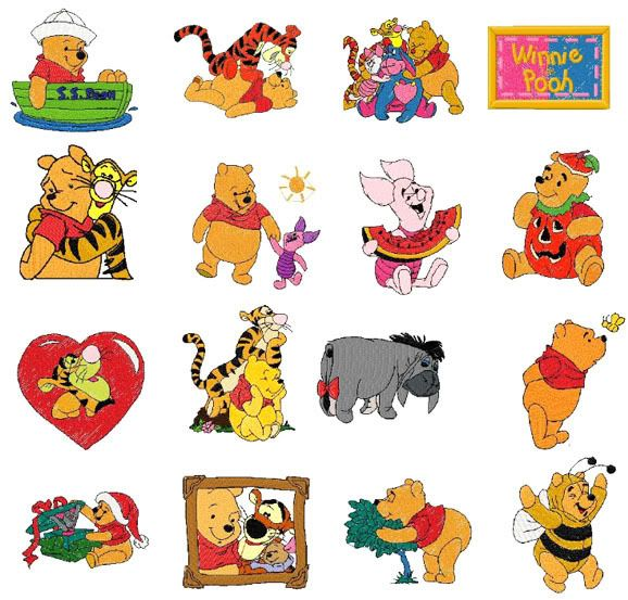 500+ Winnie the Pooh Machine Embroidery Designs