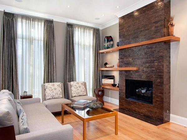 Электрические камины в интерьере гостиной
