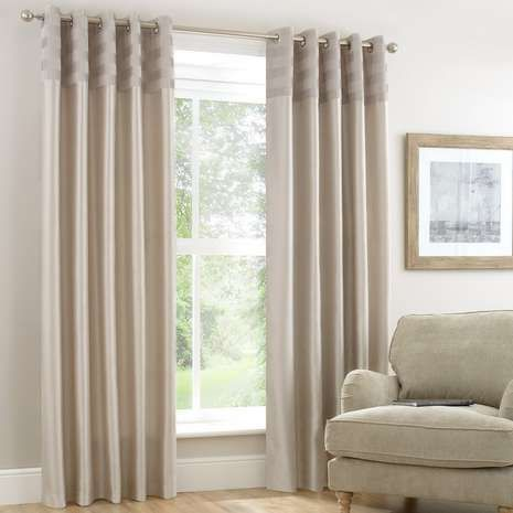 Atlanta Ivory Lined Eyelet Curtains | Dunelm