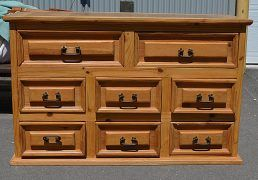 Commode vieux chalet 8 tiroirs