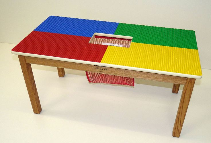 159.95+20 shipping LEGO® BLOCKS WORK WITH CHILDREN PLAY TABLE W/ STORAGE NET--4 COLOR--MADE IN USA #TableToys #ChildsPlayTable