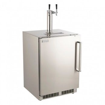 Outdoor Rated Kegerator  Add an element of modern style and excitement to your outdoor living space with the Outdoor Rated Kegerator. It will enable you to enjoy ice-cold craft beer with your friends and family during any outdoor gathering.