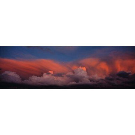 Sunset UT USA Canvas Art - Panoramic Images (36 x 12)