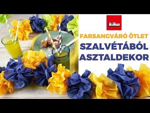 Farsangváró Ötlet - Szalvétából Asztaldekor | Kika Magyarország - YouTube