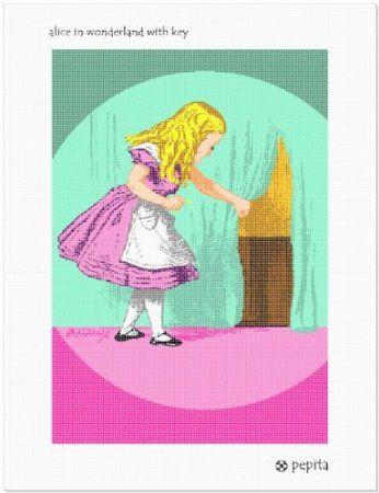 Alice In Wonderland With Key Needlepoint Kit | Needlepoint