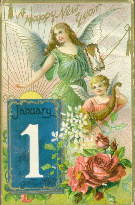 May you have a gloriously happy New Year! #vintage #cards #holidays #New_Years