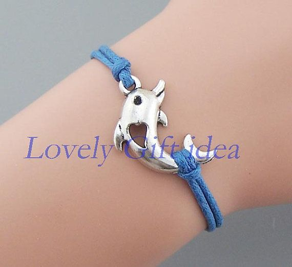 Dolphins bracelet Dolphins jewelry Silver Dolphins charm Friendship gift jewelry Graduation gift Wholesale or retail by LovelyGiftidea, $1.99
