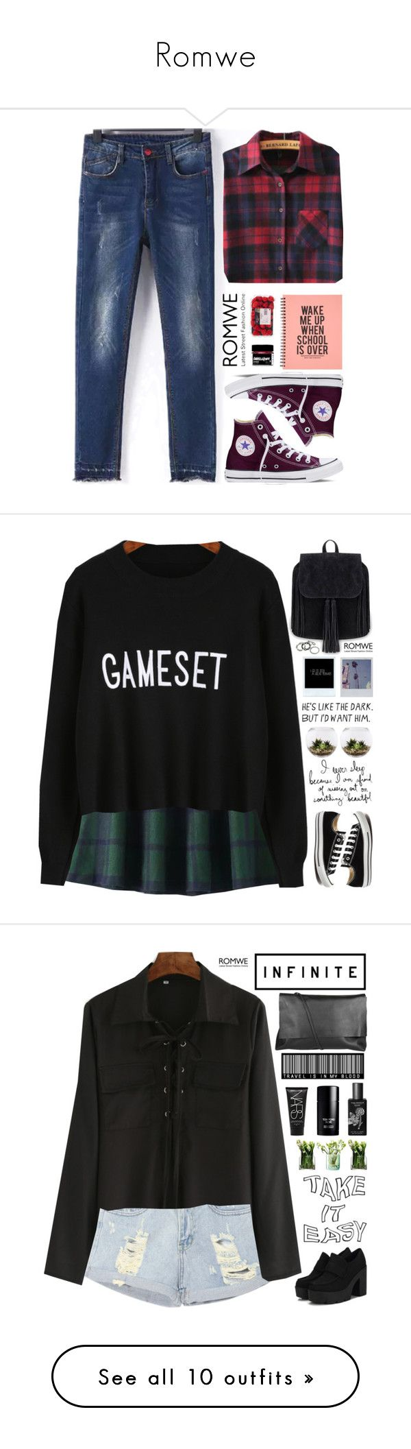 """Romwe"" by scarlett-morwenna ❤ liked on Polyvore featuring Converse, Home Essentials, LSA International, Arlington Milne, TokyoMilk, Tom Ford, NARS Cosmetics, Rebecca Minkoff, redrising and Steve Madden"