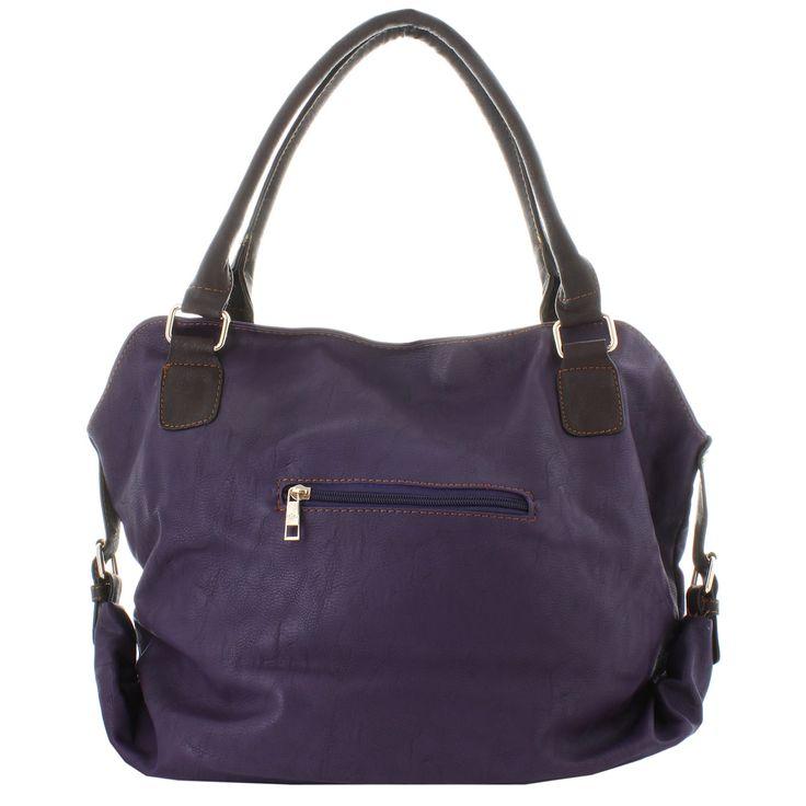 Oasis Handbag 'Elisha' Two-tone Stitched Buckle Satchel | Overstock™ Shopping - Big Discounts on Oasis Satchels