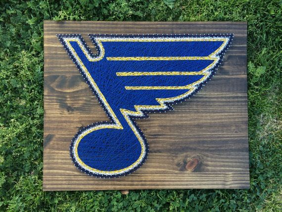 MADE TO ORDER St. Louis Blues Hockey String Art by KailsStringArt