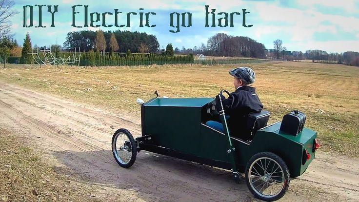 Elektryczny gokart dla dzieci w stylu retro - projekt DIY - część 1