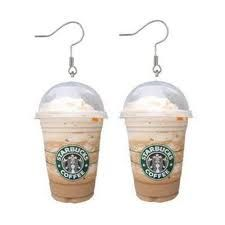 starbucks coffee earrings--Love these! I need these a pair for me and for my sister in law