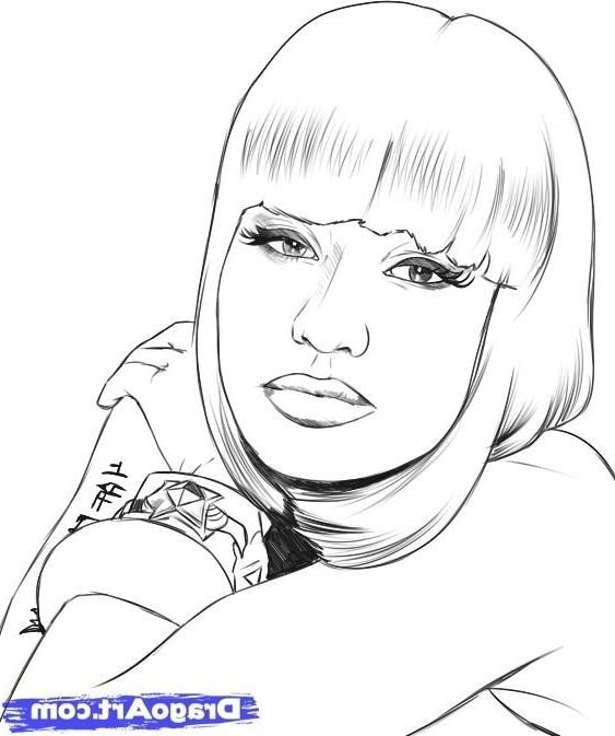 Nicki Minaj Coloring Pages Nicki Minaj Coloring Pages Coloring