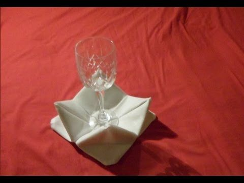 How To Fold Napkins - Rose Napkin Fold