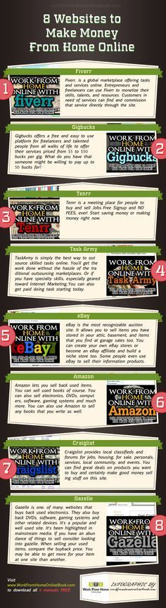 Copy Paste Earn Money - 8-ways-to-earn-money-from-home-infographic - You're copy pasting anyway...Get paid for it.
