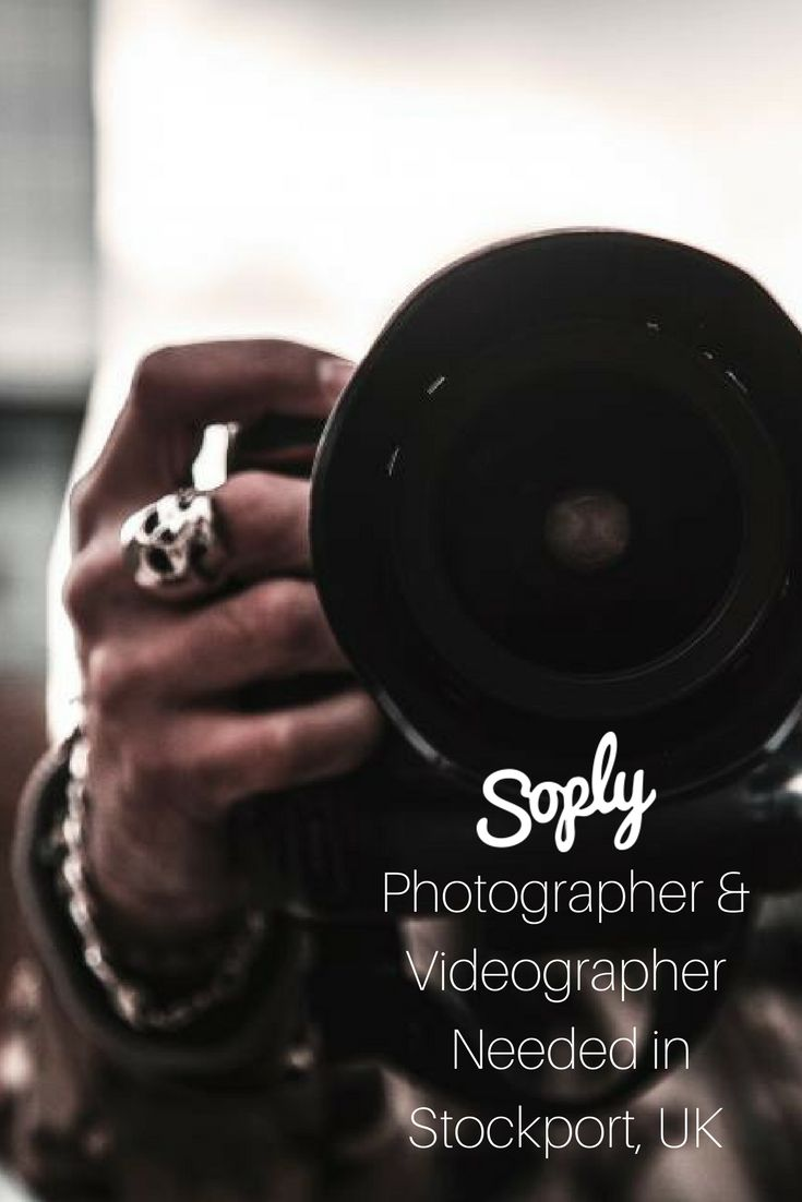 #Photographer & #videographer needed for an #event in Stockport, United Kingdom. Food and drink will be provided for you during the event. See the #job and apply by clicking the pin!