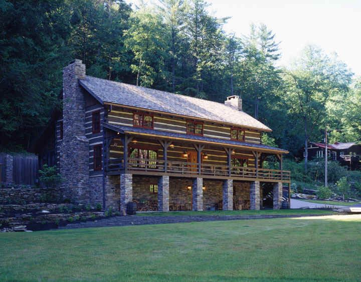 17 best images about hand hewn log homes on pinterest for Timber frame ranch homes