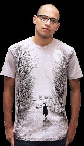 Alone Again T-shirt by dandingeroz from Design By Humans. Winter is here and you do not want to be Alone Again. This large print T-shirt will have your whimsical winter wonderland juices flowing. On lookers will gasp in awe and want to make sure you are never alone again. Amazing artwork and seasonal fashion, what's not to love?