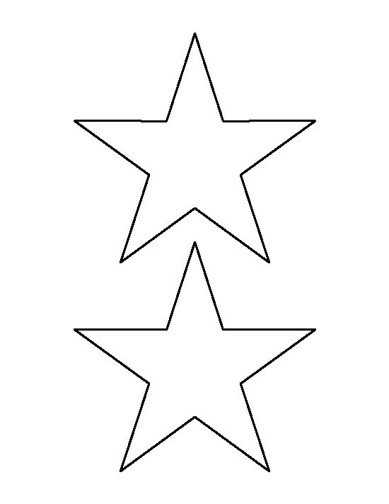 5 inch star pattern. Use the printable outline for crafts ...