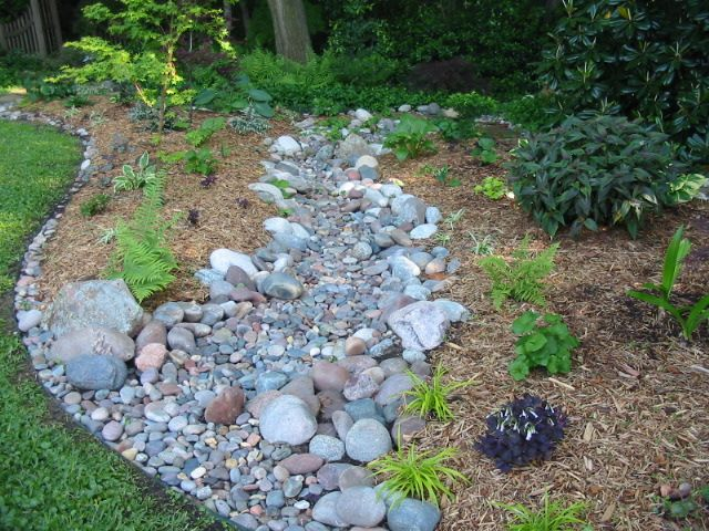 how to make a dry creek bed Several years ago I built a