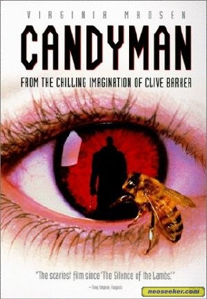 Candyman.  My favorite scary movie! Starring Tony Todd, Vanessa Williams, and Kasi Lemmons.