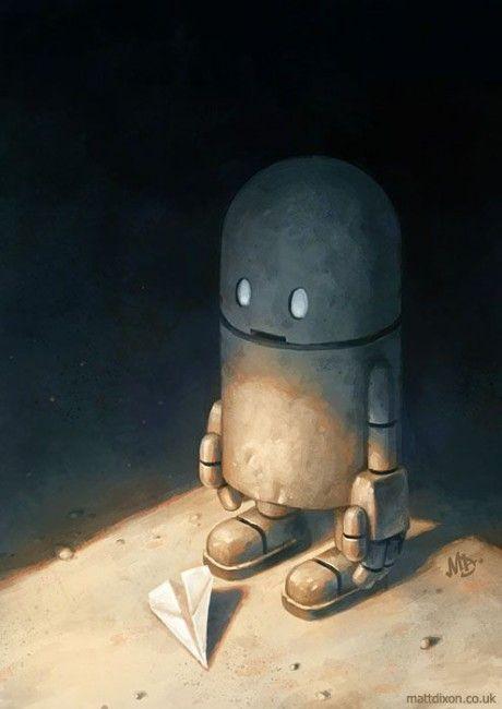 Inspiration | Lonely Robot Concept Art By Matt Dixon