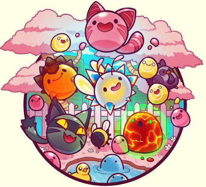 Monomi Park Monomipark Twitter Slime Rancher Game Slime Rancher Cute Drawings