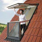 FAkro FGH-V tetőerkély ablak és burkolókeret 78x255 cm :: TETŐABLAK PIAC - Tetőtéru ablakok