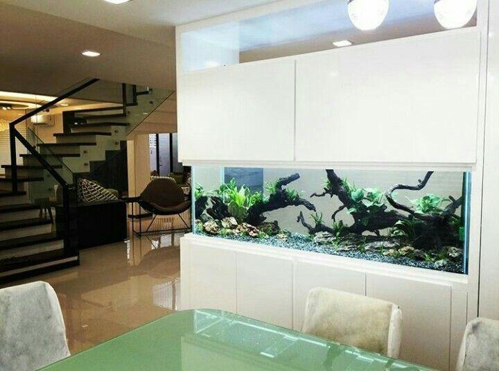 43 Unique Aquarium Partition Living Room Room Design Living