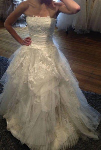 Vera wang eliza 4 000 size 10 used wedding dresses for Used vera wang wedding dresses