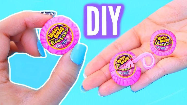 DIY Mini Bubble Gum | Real Gum Inside! World's Smallest Hubba Bubba Tape!