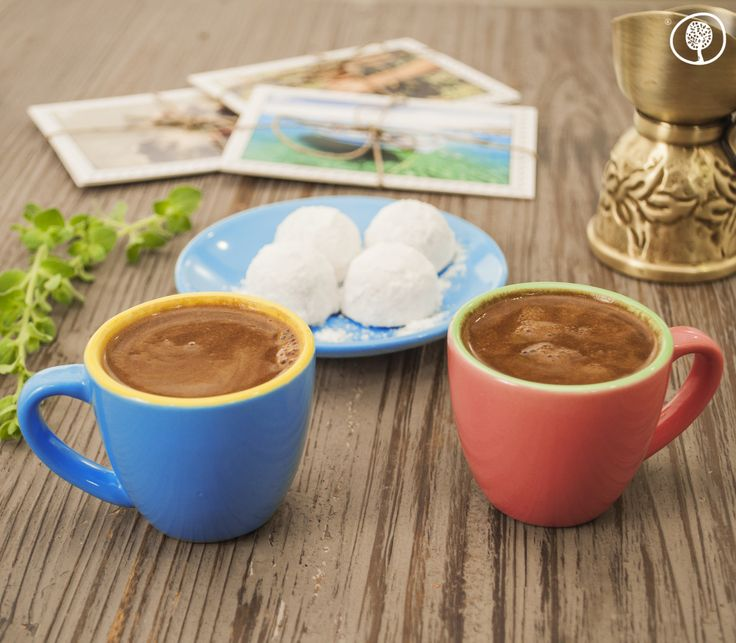 """A cup of """"Draculis"""" Greek Coffee, is the best way to start your day! How do you start your day? www.yolenis.com #greekcoffee #coffee #morning #cup #instacoffee #goodmorning"""
