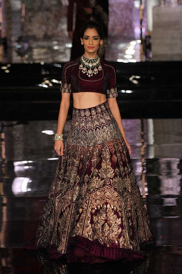 Manish Malhotra, India's leading designer, created a stunning collection featuring bridal lehengas, sarees, sherwanis and more. #indiafashion,