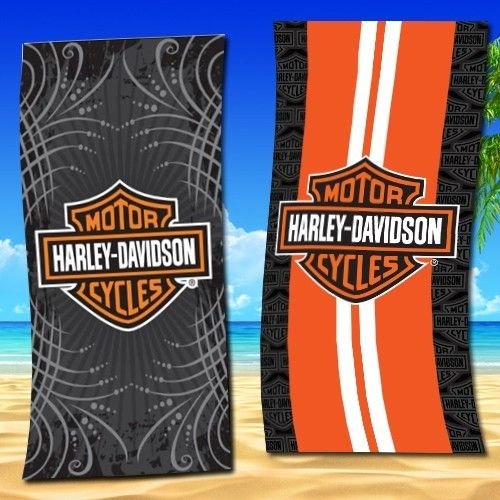 Authentic Harley Davidson Large Beach Towels - 2 Styles