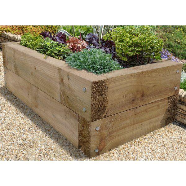 Sleeper 130cm X 70cm Wooden Raised Flower Bed Raised Herb Garden Raised Planter Beds Raised Garden Beds