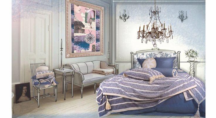 Over slaapkamergeluk gesproken, een luxe beddengoed collectie Gustavian Folk  Verkrijgbaar bij: Slaapkenner Theo Bot Dorpsstraat 162 1689 GG Zwaag info@theobot.nl www.theobot.nl