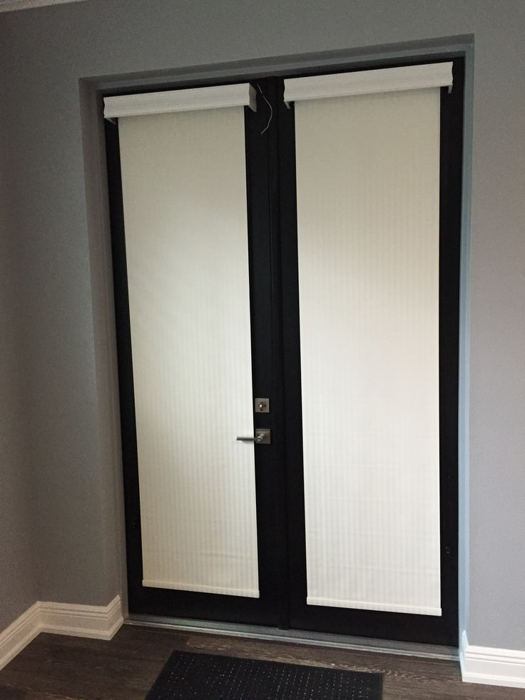 Blackout Roller Shades For French Doors Give Privacy When