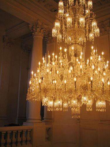 A stunning chandelier at the Baccarat Museum in Paris. M.S. Rau Antiques offers a variety of Baccarat chandeliers for sale. Visit our site www.rauantiques.com keyword: Baccarat