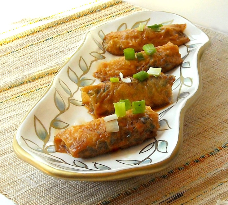 Tofu Skin Rolls. I have some tofu skin that is just waiting for me to ...