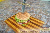 Фото к рецепту: Гамбургер с куриной котлетой