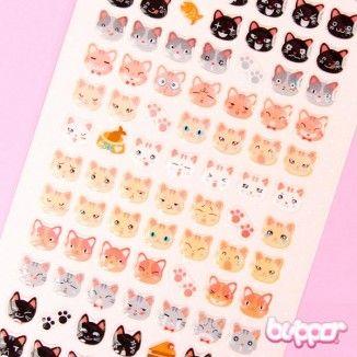 Funny Sticker World tarrat - Kawaii Neko - Kawaii tarrat - Paperitavara | Blippo Kawaii Shop