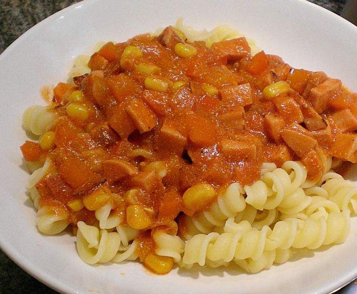 Rezept Oma s Wurstgulasch von ThermiiboyKevin - Rezept der Kategorie Hauptgerichte mit Fleisch