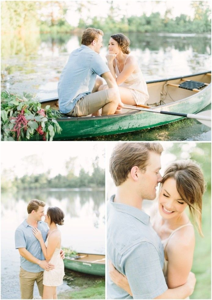 Dallas/Fort Worth Engagement Session | Canoe Engagement Session  www.katielamb.com