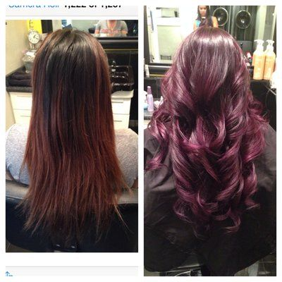 wine balayage hair google search hair pinterest dark plum hair ombre and hair. Black Bedroom Furniture Sets. Home Design Ideas