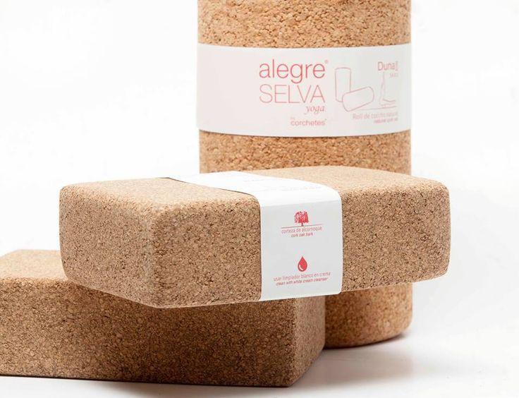Cork block & cork roll for Selva Alegre Yoga® by Corchetes®