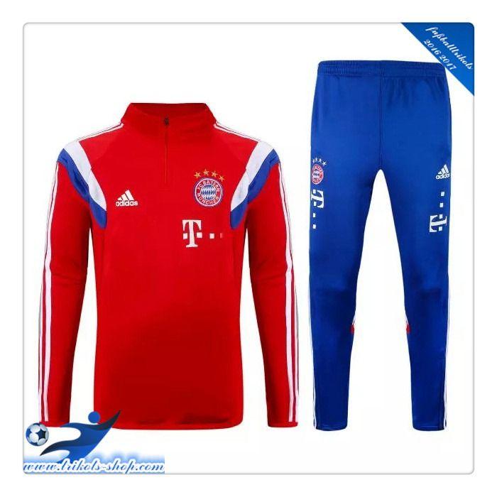 Originale FC Bayern München Trainingsanzug Rot 2015 2016 Bedrucken