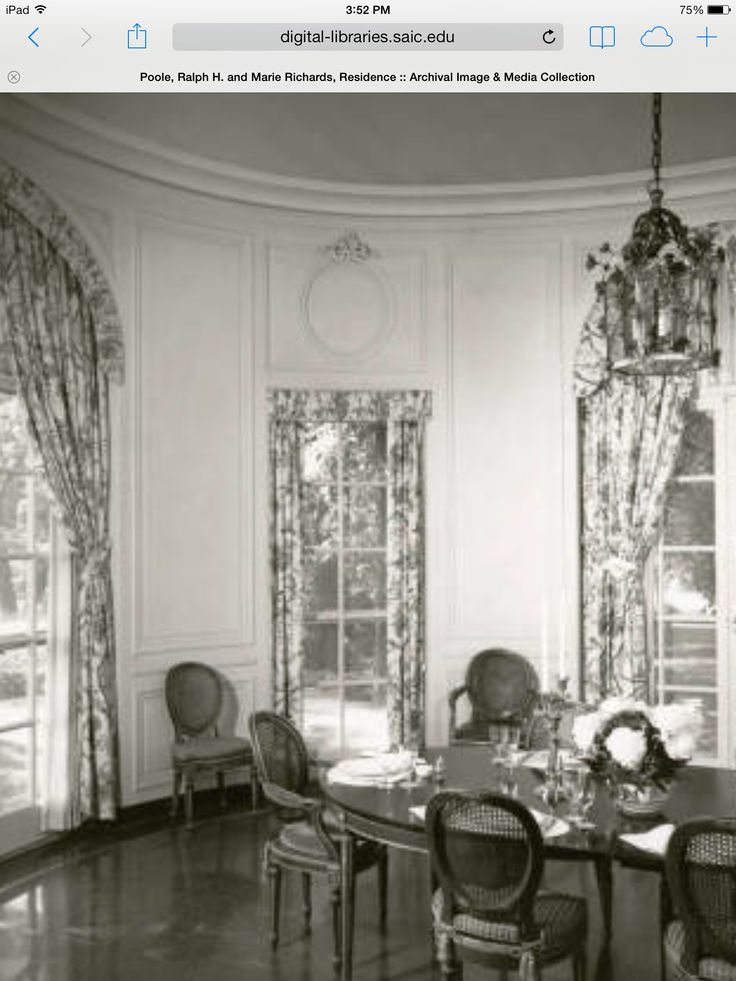 Ralph H Poole Estate Designed By David Adler View Of Dining Room
