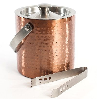 6010 Cuisivin Bel-Air Barware – Double-wall Ice Bucket with Tongs  Serve in style with the new Cuisivin Bel-Air Barware Collection. The beautiful hand crafted collection of barware is made of stainless steel with an accented hand-hammered exterior and mirror copper finish.
